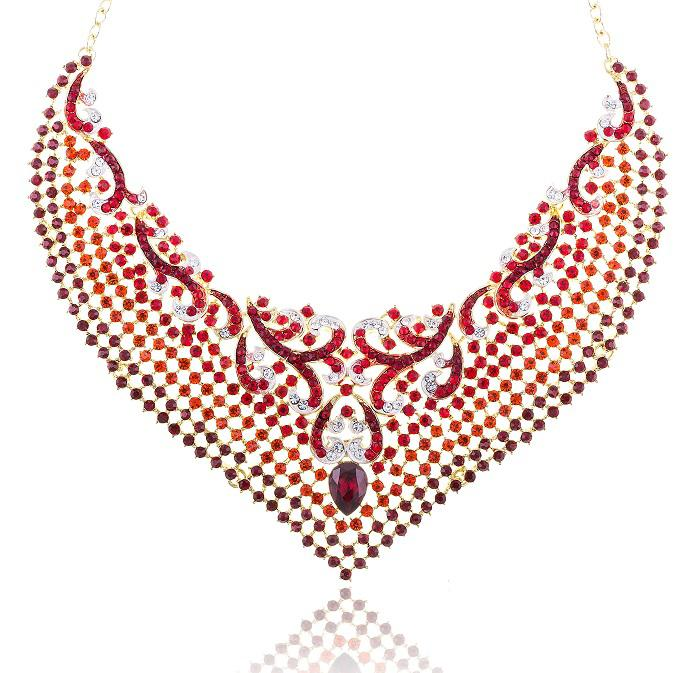 Cardinal Paradise Luxury Borealy Set colier cercei-big