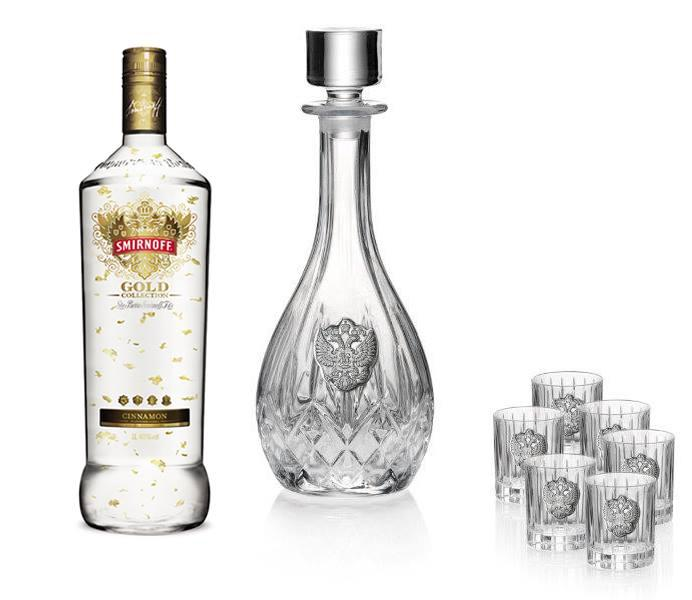 Vodka Eagle for Six by Valenti - Made in Italy & Smirnoff Gold 23K 0