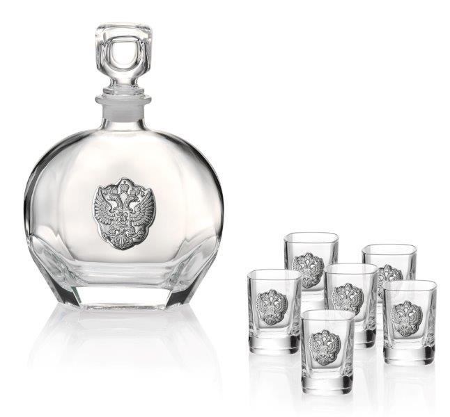 Set Vodka Eagle Round for Six by Valenti - Made in Italy 0