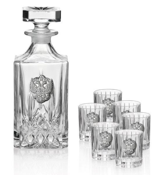 Set Vodka Imperial Eagle for Six by Valenti - Made in Italy-big