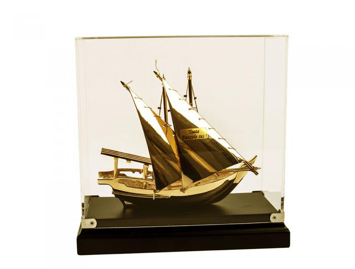 Macheta Gold Ship Glass 24 carate 5