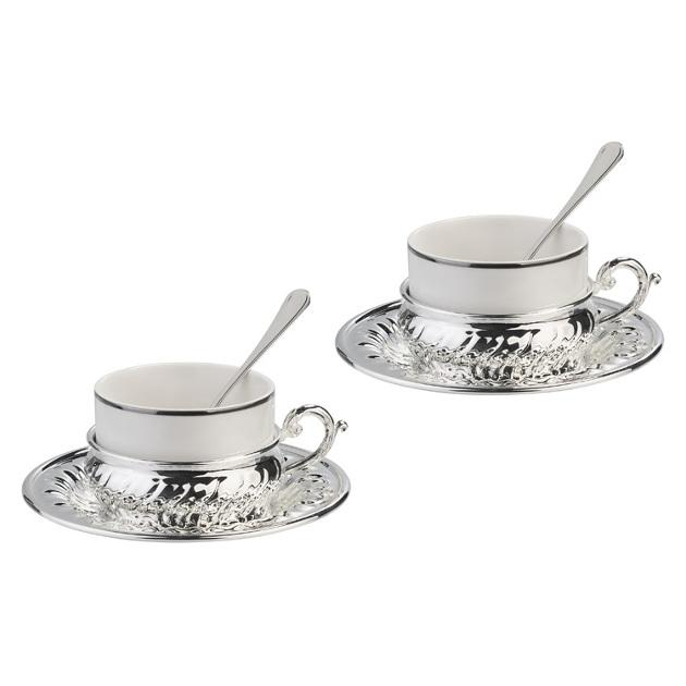 American Silver Coffee Set for Two by Chinelli 1