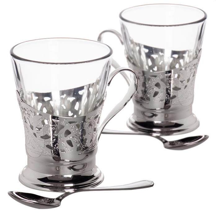 Silver Tea Cups for Two by Chinelli - made in Italy-big
