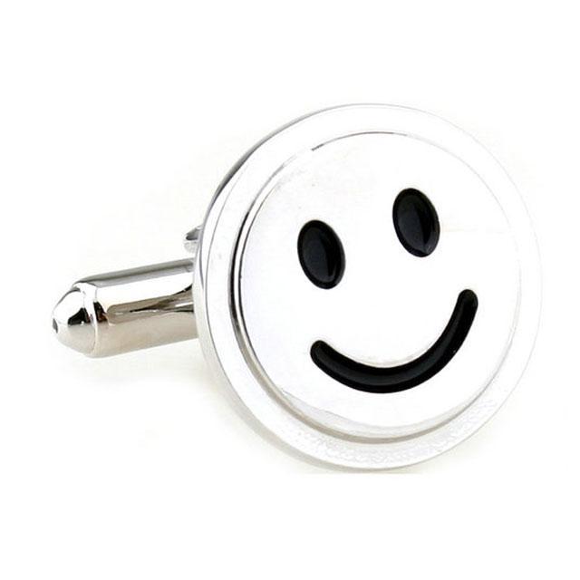 Butoni Borealy Happy Face Silver-big