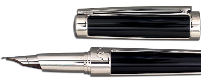 Set S.T. Dupont Luxury Fountain Pen si Note Pad Black Hugo Boss 3