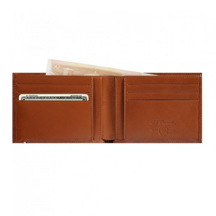 Set Leather Wallet Bank Note Brown S.T. Dupont si Note Pad Burgundy Hugo Boss 1