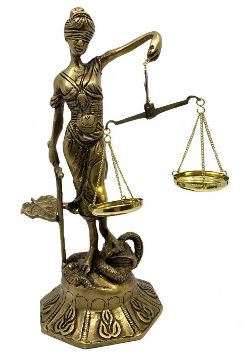 Statueta Zeita Justitiei, Bronz, 25 cm, Golden 0