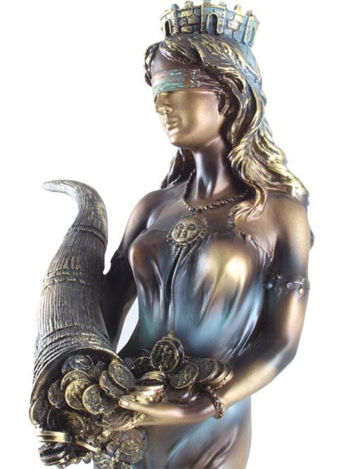 Statueta Zeiţa Fortuna - 35 cm înălţime-big
