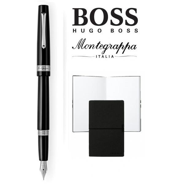Set  stilou  Armonia Nero Montegrappa si Note Pad Hugo Boss-big
