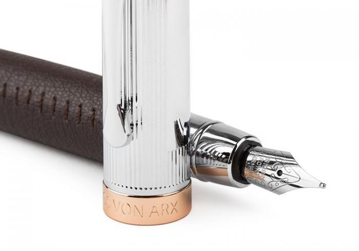 Brown Cardholder and Pen by Jos Von Arx 4