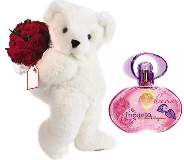 Heaven Incanto TeddyBear with Red Roses-big