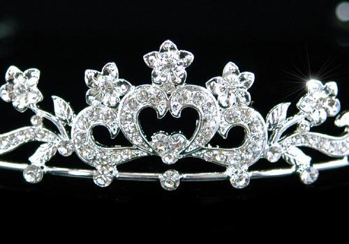 Tiara Borealy Bridal Heart Crystal 1
