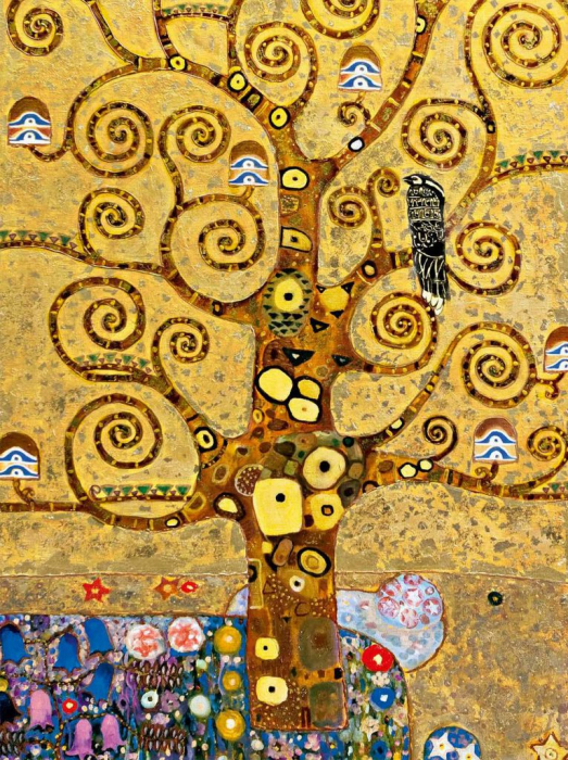 The Lady in Gold Esarfa Matase  - Gustav Klimt [1]