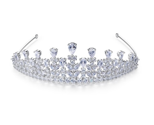 Tiara Borealy Flowers Wedding Pageant Prom-big
