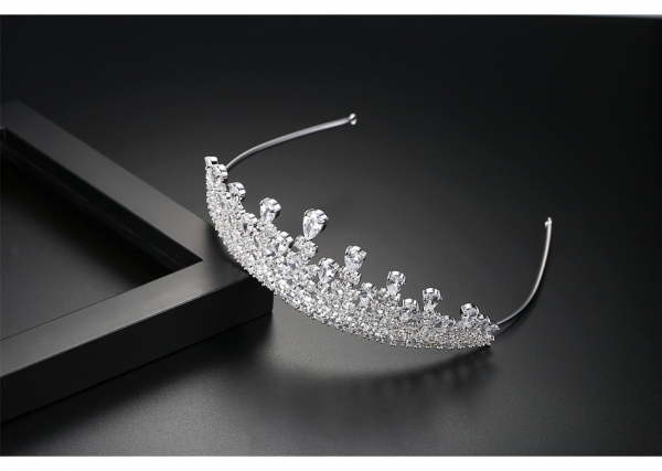 Tiara Borealy Flowers Wedding Pageant Prom 1