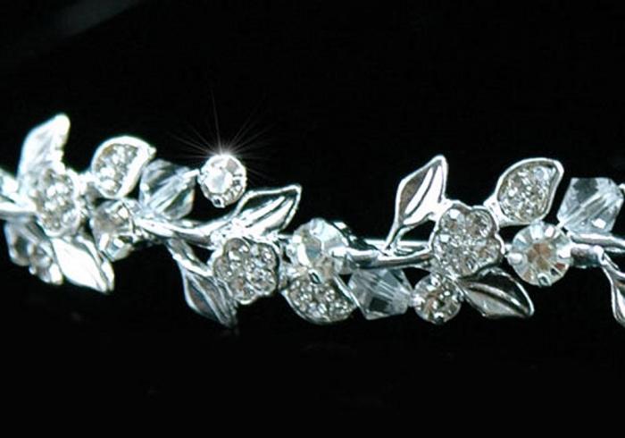Tiara Bentita Borealy Wedding Flower Crystal [2]