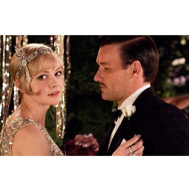 Tiara Borealy Pearls Silk Great Gatsby Luxury Headband-big