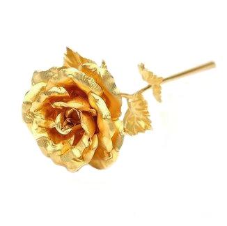 Set Cadou Trandafir Aur 24k si Vaza Rose 4