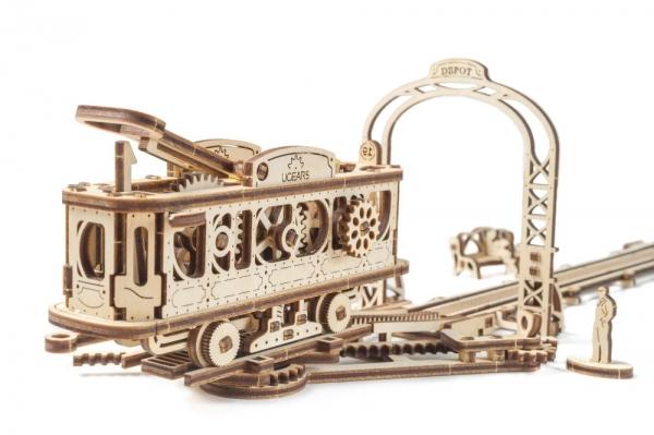 Tramvai cu statie Puzzle 3D Mecanic-big