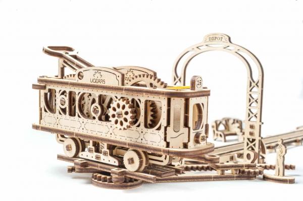 Tramvai cu statie Puzzle 3D Mecanic 3