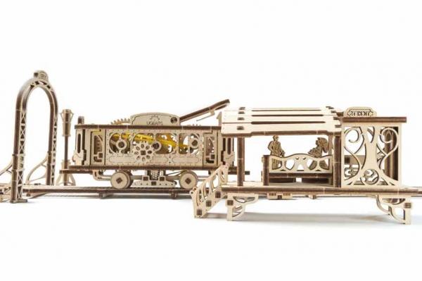 Tramvai cu statie Puzzle 3D Mecanic 4
