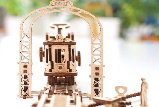Tramvai cu statie Puzzle 3D Mecanic 1