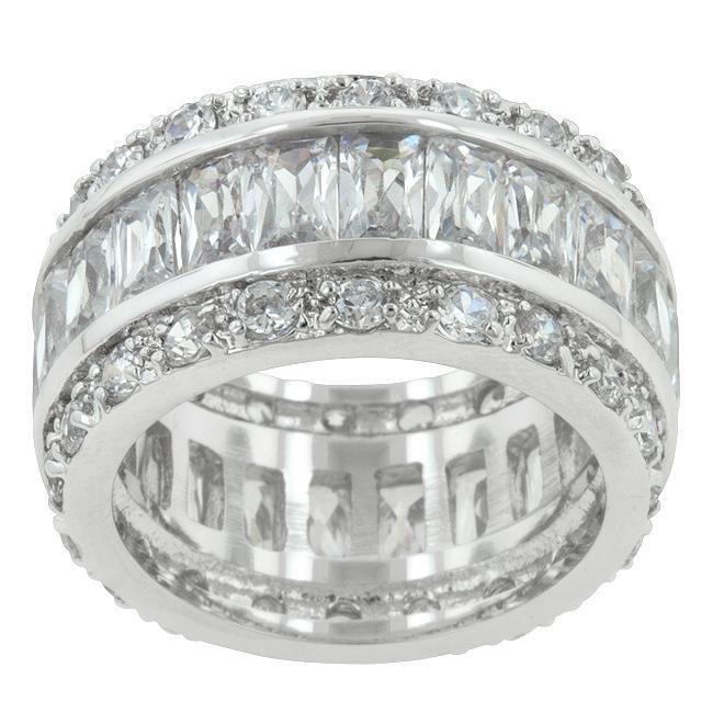 Inel Emerald Eternity Argint 925 4