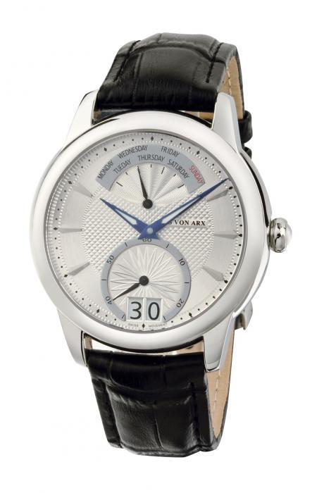 Watch Retrograde Silver Jos von Arx-big