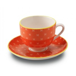 Set 6 cescute + farfurii de cafea  Orange By Zafferano, Made in Italy 1