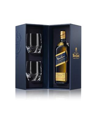 Johnnie Walker Blue Label set cu 2 Pahare Cristal 1