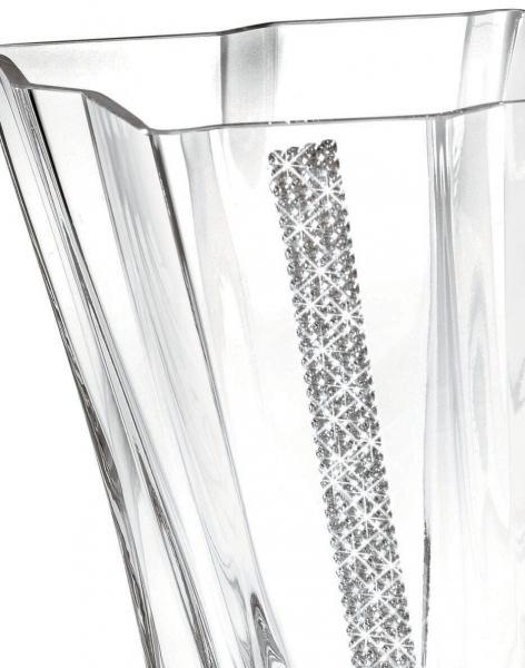 Vază cu cristale Swarovski PRIMA Quadro REGINA by Chinelli, made in Italy 1