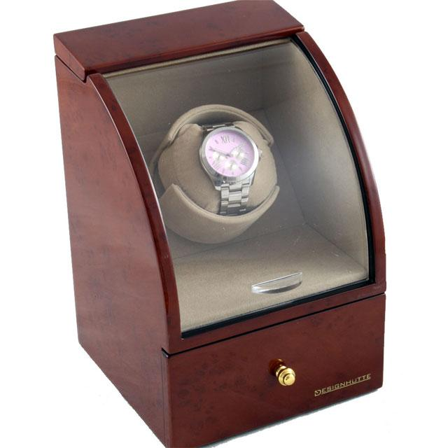 Watch Winder Basel 1 BROWN by Designhütte – Made in Germany 3