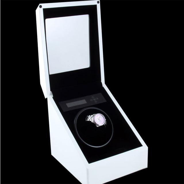 Watch Winder Monaco Weiss 2 White by Designhütte – Made in Germany 1
