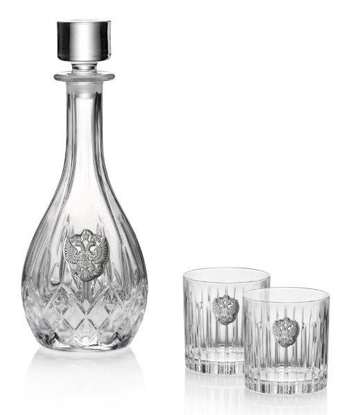 Whisky Crystal & Argint Set for Two by Valenti - Made in Italy 0