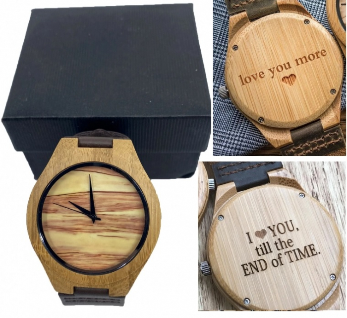 Wood Watch for Men - Ceas lemn ecologic personalizabil 0