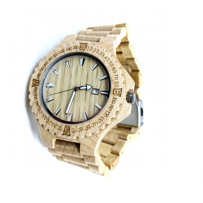 Luxury Wood Watch for Men - Ceas lemn ecologic personalizabil [3]