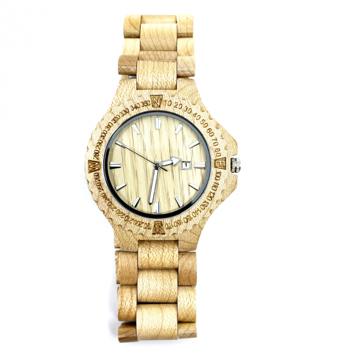 Luxury Wood Watch for Men - Ceas lemn ecologic personalizabil [0]