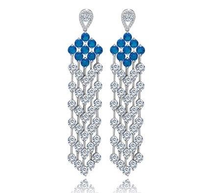 Cercei Borealy Chandelier Fancy Blue Crystal [0]