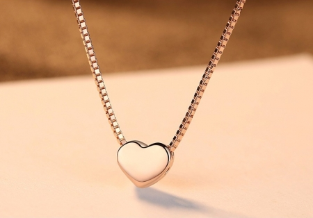 Colier Borealy Argint 925 Pink Heart - Cadou Valentine's Day [0]
