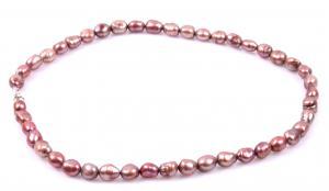 Colier Perle Borealy Oval  Bronze Peach0