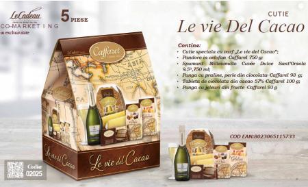 Cod de Craciun Le vie Del Cacao - 5 piese, made in Italy1