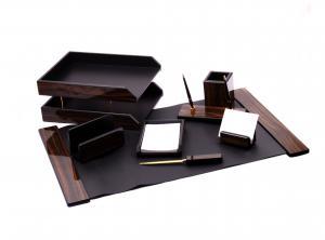 Set multifunctional pentru birou Antique Mahogany cu 8 accesorii0