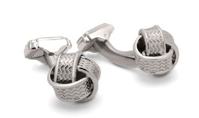 Butoni Knot Rhodium by Thompson, made in England
