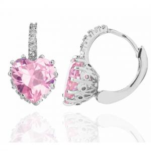 Cercei Borealy Sapphire Heart Pink1