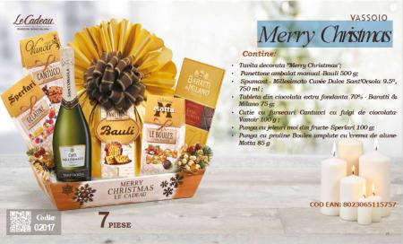Cos de Craciun Merry Christmas - 7 piese, made in Italy1