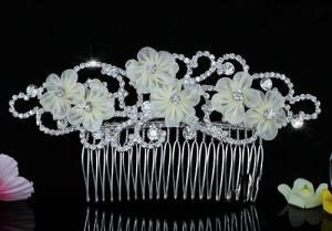 Ivory Silk Flowers Agrafa Tiara3