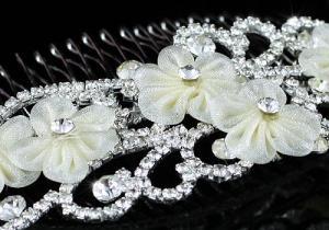 Ivory Silk Flowers Agrafa Tiara2