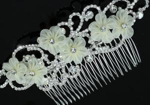 Ivory Silk Flowers Agrafa Tiara1
