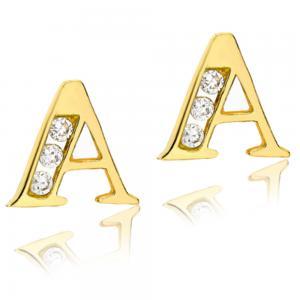 Cercei pentru Copii Borealy Aur Galben 9 K Letter