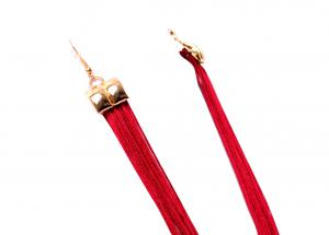 Colier si Cercei Statement Borealy Tassel Electric Red2